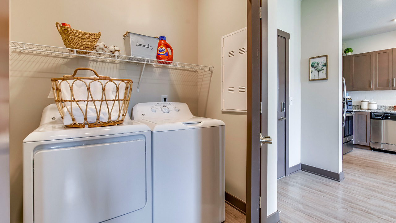 Encore 55+ Boutique Apartments Full Size Washer Dryer